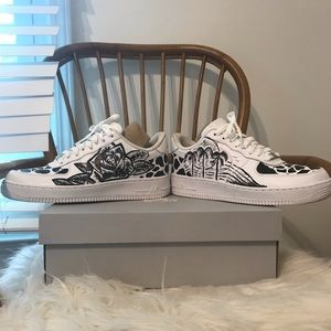 Handpainted one of a kind Air Force ones (AF1)